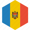country, flag, moldova, world icon