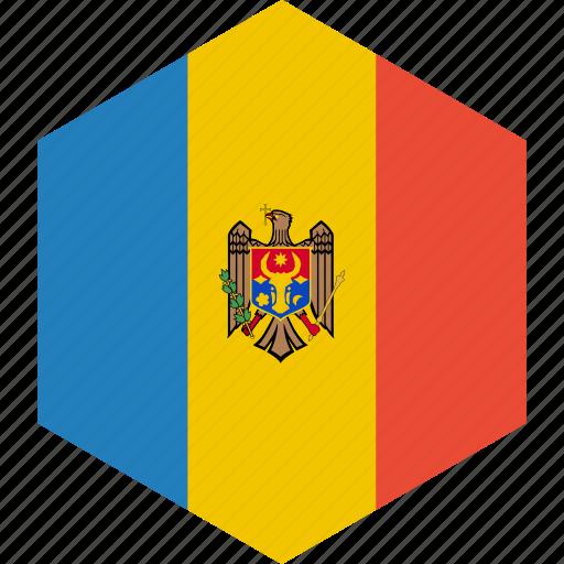 country, flag, moldova, world icon