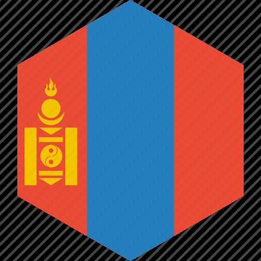 country, flag, mongolia, world icon