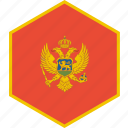 country, flag, montenegro, world icon