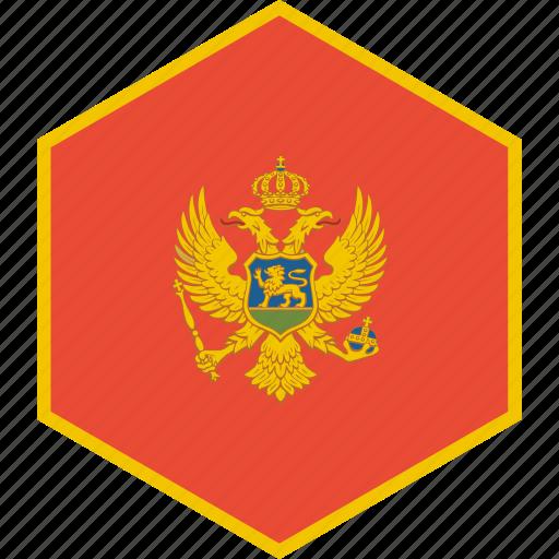 country, flag, montenegro, world icon