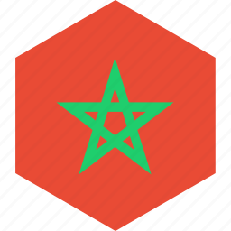 country, flag, morocco, world icon