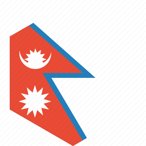 country, flag, nepal, world icon