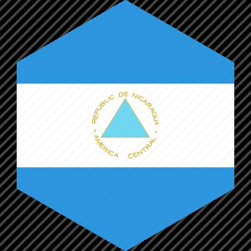 country, flag, nicaragua, world icon
