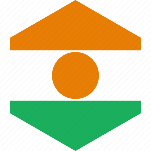 country, flag, niger, world icon