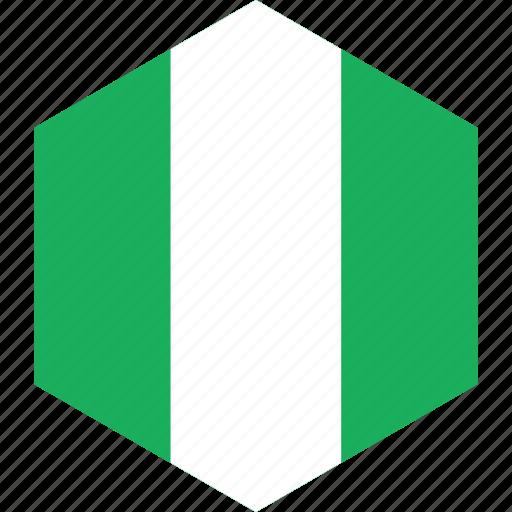 country, flag, nigeria, world icon