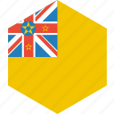 country, flag, niue, world icon