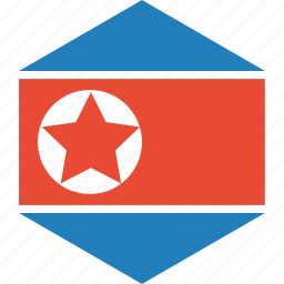 country, flag, korea, north, world icon