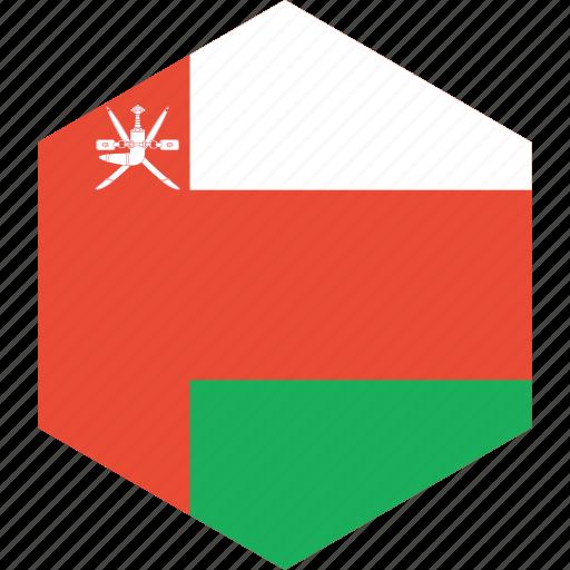 country, flag, oman, world icon