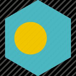 country, flag, palau, world icon