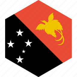 country, flag, guinea, new, papua, world icon