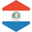 country, flag, paraguay, world