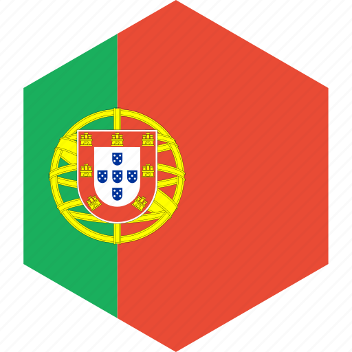 country, flag, portugal, world icon