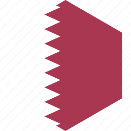 country, flag, qatar, world icon