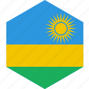 country, flag, rwanda, world icon