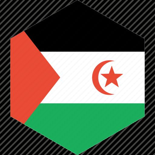 arab, country, flag, sahrawi, world icon