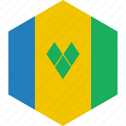 and, country, flag, grenadines, saint, vincent, world icon
