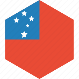 country, flag, samoa, world icon