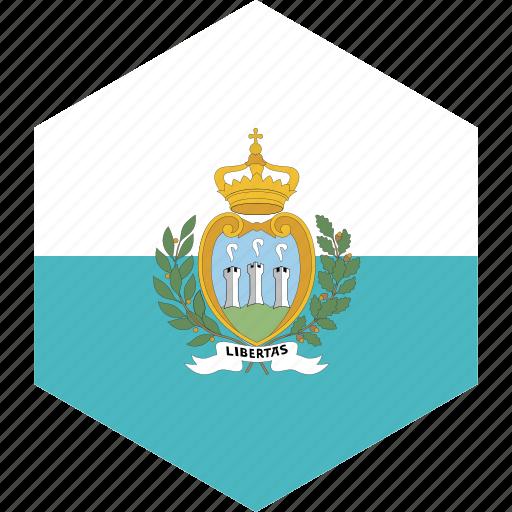 country, flag, marino, san, world icon