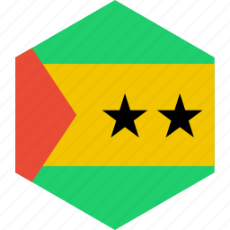 country, flag, principe, sao, tome, world icon
