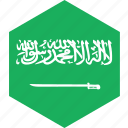 arabia, country, flag, saudi, world icon