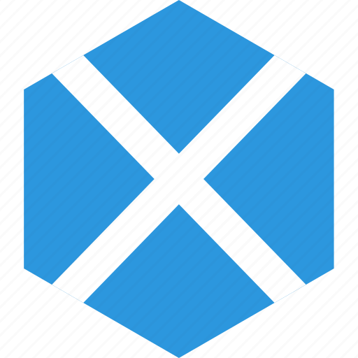 country, flag, scotland, world icon