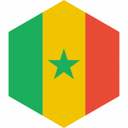 country, flag, senegal, world icon
