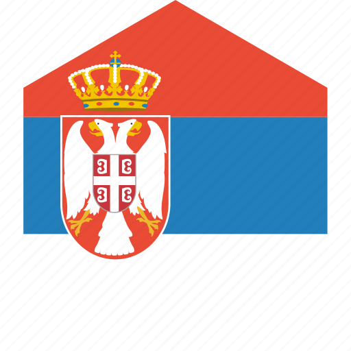 country, flag, serbia, world icon