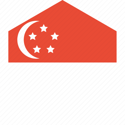 country, flag, singapore, world icon