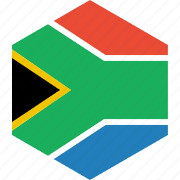 africa, country, flag, south, world icon