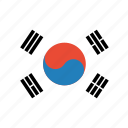 country, flag, korea, south, world