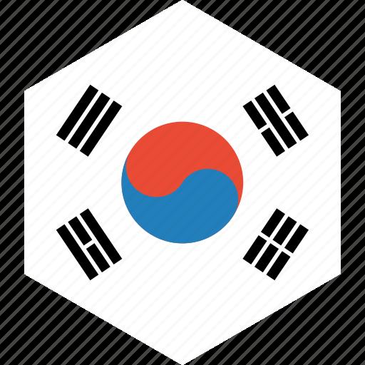 country, flag, korea, south, world icon