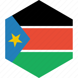 country, flag, south, sudan, world icon