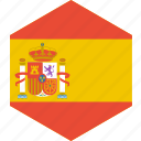 country, flag, spain, world