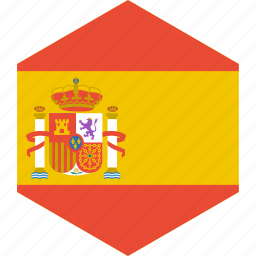 country, flag, spain, world icon