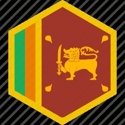 country, flag, lanka, sri, world icon