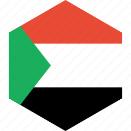 country, flag, sudan, world icon