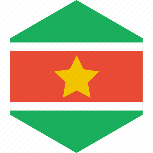 country, flag, suriname, world icon