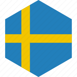 country, flag, sweden, world icon