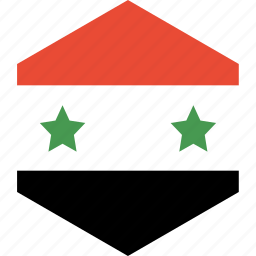 country, flag, syria, world icon