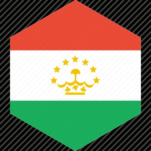 country, flag, tajikistan, world icon