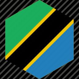 country, flag, tanzania, world icon