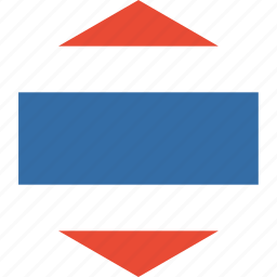country, flag, thailand, world icon