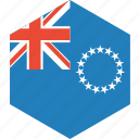 cook, country, flag, islands, the, world icon
