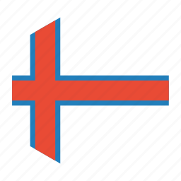 country, faroe, flag, islands, the, world icon