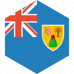 caicos, country, flag, islands, the, turks, world icon