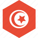 country, flag, tunisia, world icon