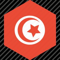country, flag, tunisia, world icon
