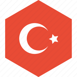 country, flag, turkey, world icon