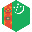 country, flag, turkmenistan, world
